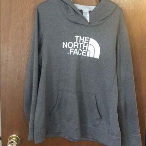 Gray north face XL women's sweatshirt